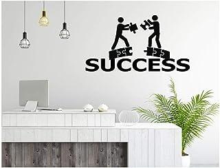Qinyubing Succès Sticker Art Bureau Autocollants Citation Vinyle Mural Bureau Inspiration Business Imperméable Amovible 42...