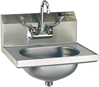 Eagle HSA-10-FW Hand Sink, Stainless Steel, Wall Mount, 18-7/8