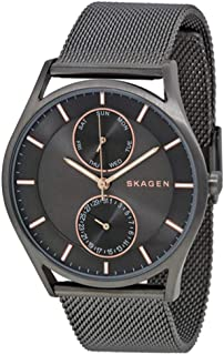Skagen SKW6180 40mm Grey Steel Bracelet & Case Mineral Men's Watch