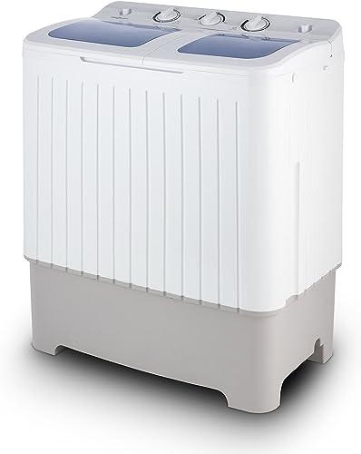 OneConcept Ecowash XXL - Mini Machine à Laver, Essoreuse, Capacité de Lavage de 6,8kg, 2 programmes, Faible Bruit, Fa...