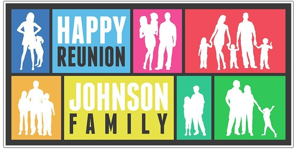 Family Daily Factory outlet bargain sale Reunion Party Banner Personalized Backdrop Decoration