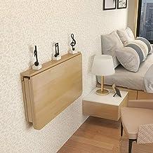 MetalBracket-100 x 50 x 2 cm stół ścienny, składany, składany, z litego drewna