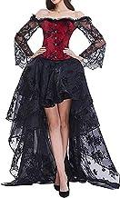 EMILYLE Mujeres Deshuesado Corsé Gótico Halloween Vestido Clubwear Fiesta Traje