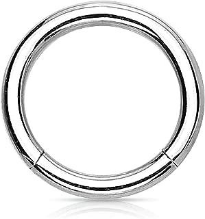 Piercing Ring Hinged Clicker Segment Hoop 10G-20G Surgical Steel Nose Septum Lip Tragus