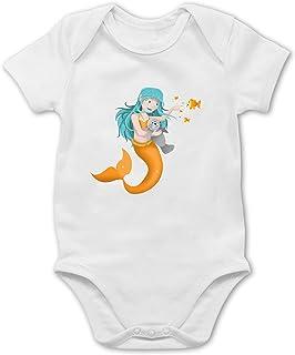 Shirtracer - Bunt gemischt Baby - Meerjungfrau - Baby Body Kurzarm für Jungen und Mädchen