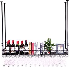 Wall Mounted Metal Home Wine Rack | Wine Bottle | Hanging Stemware Glass Holder | Cork Storage | Storage Rack for Living R...