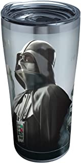 Tervis Star Wars Darth Empire Stainless Steel Insulated Tumbler with Clear and Black Hammer Lid, 20 oz, Silver