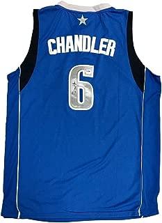 Tyson Chandler Dallas Mavericks Autographed Signed Home Blue Jersey PSA/DNA - Authentic Memorabilia