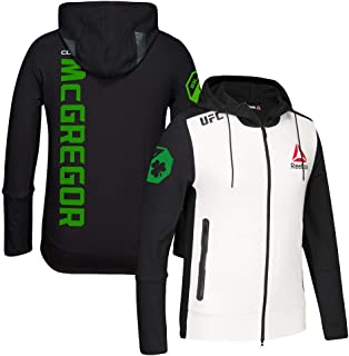 9fe65c15ea4d77 Reebok Conor McGregor UFC (Black White Green) Fight Kit Walkout Hoodie Men s