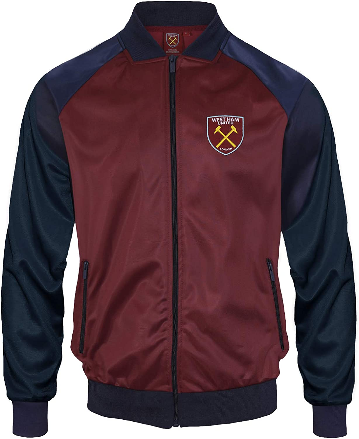 West Ham United Fc Official Gift Mens Retro Track Top Jacket Claret 3xl At Amazon Men S Clothing Store