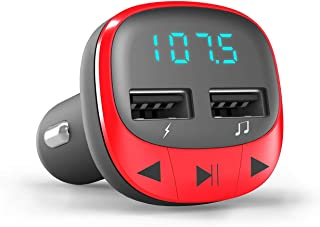 Energy Sistem Car Transmitter FM Red (Bluetooth, microSD, USB Charger, USB MP3, Folder Navigation, Wireless)