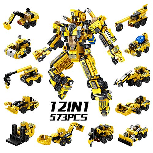 SYOSIN Robot STEM Toy Engineering Building Blocks with 12 in 1 Creative Set, Construction Toys for Kids Boys and Girls 6 Years Old or Older - 573 Pieces