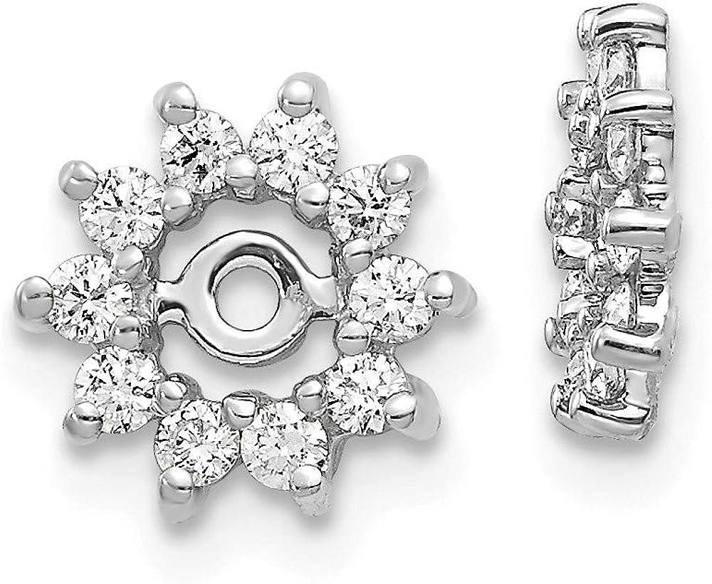 14K White Gold Fancy Diamond Earring Jacket Mountings