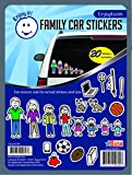 Enjoy It Color Accents Family Car Stickers Stick Figure Family, 20 Pieces, Outdoor Rated Vinyl Sticker Decals
