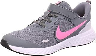 NIKE Smoke Grey Pink Glow Photon Dust White, Running Shoe, Revolution 5 PSV, 28 EU