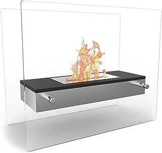 Regal Flame Vista Fire Pit Tabletop Portable Bio Ethanol Fireplace in Black