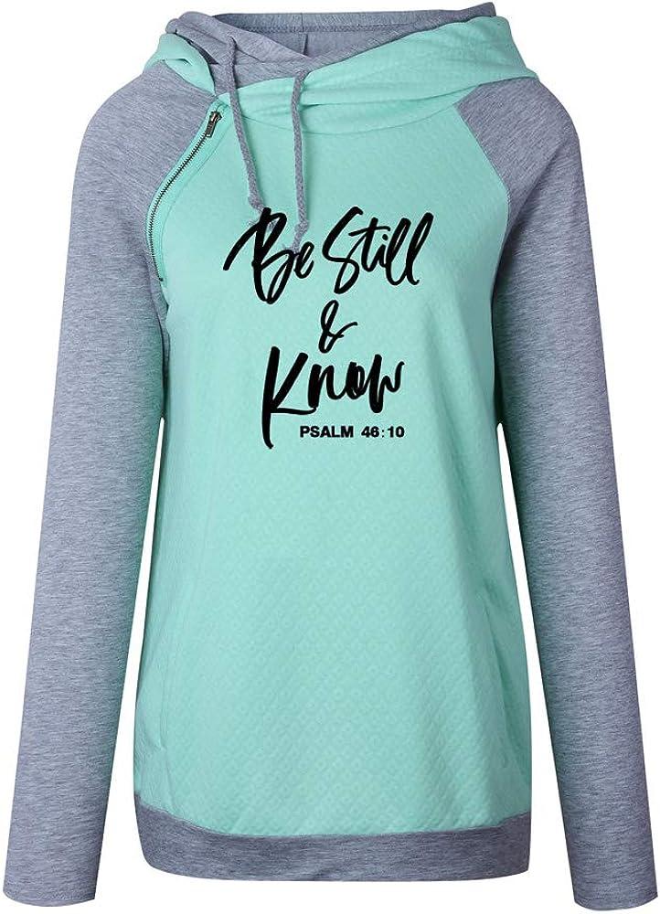 shifeier Faith Sweatshirt Plus Size for Women Casual Long Sleeve