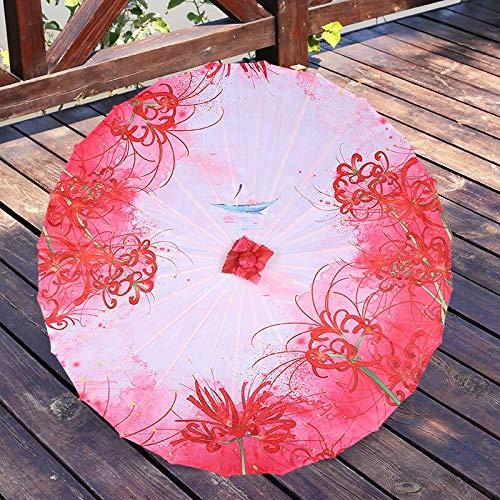 weichuang Paraguas chino de papel aceitado paraguas de seda Hanfu antiguo disfraz...