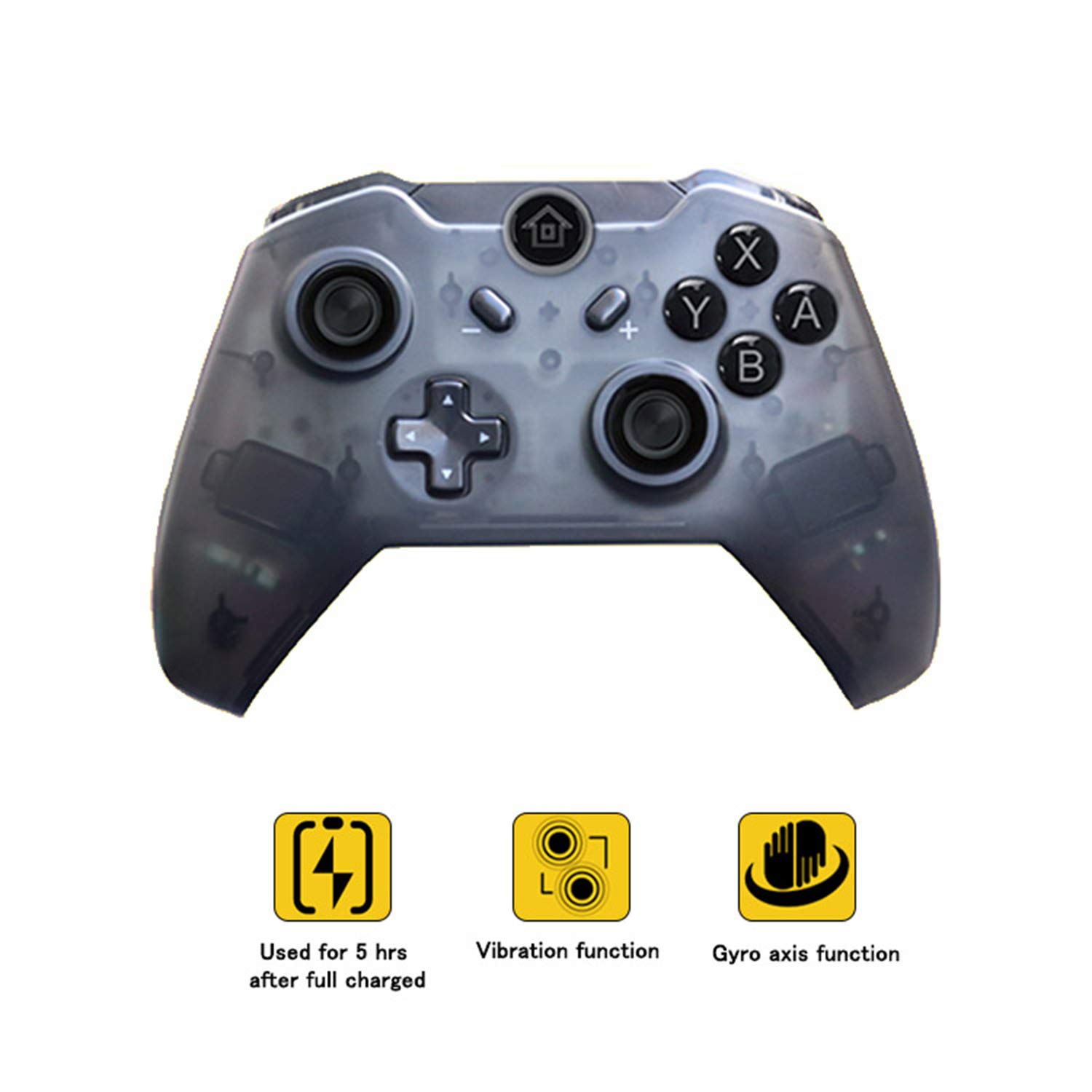 Wireless Pro Controller Compatible with Switch Gyro Axis Dual Shock Gaming Gamepad Joypad - PAWHITS