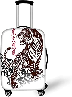 LEISISI Cartoon Unicorn Luggage Cover Elastic Protector Fits XL 29-32 in Suitcase