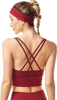 Women's Sport Bra Beauty Back Yoga Tops Running Workout T-Shirt Sports Underwear Inner Chest Pad