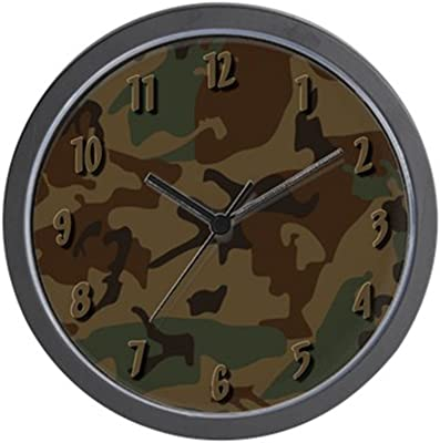CafePress - Dark Camo Wall Clock - Unique Decorative 10