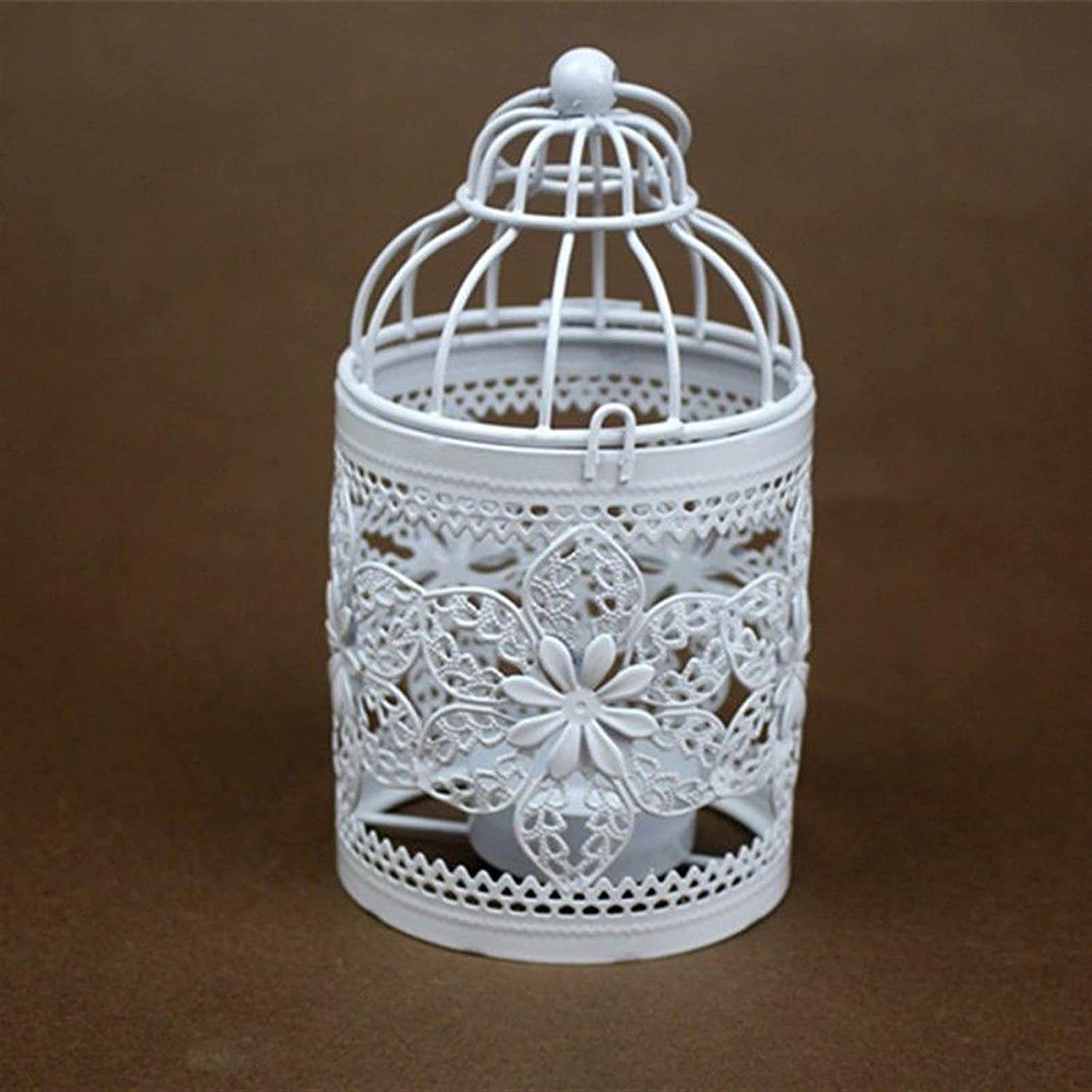 GLADMIN White Hollow Hanging Candle Holde Holder Outlet ☆ Free Shipping New popularity Birdcage