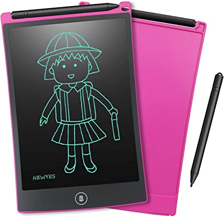 NEWYES Jot 8.5 Doodle Pad Drawing Board LCD Writing Tablet for Drawing Note Taking eWriter - Kids and Adults Pink