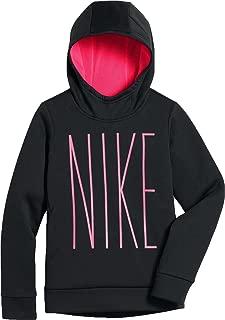 Nike Girl's Therma Fleece Hoodie Black Pink AJ6797 010