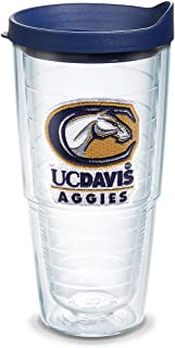 Tervis 1136004 UC Davis Aggies Logo Tumbler with Emblem and Navy Lid 24oz, Clear