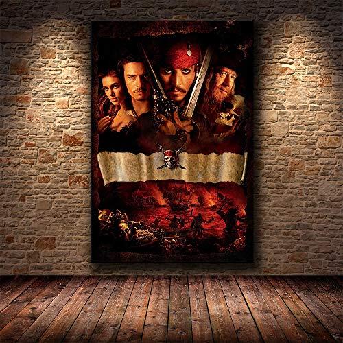 Puzzle 1000 piezas Imagen de arte de retrato de película clásica de pirata de terror de Halloween en Juguetes y juegos Gran ocio vacacional, juegos interactivos familiares Rom50x75cm(20x30inch)