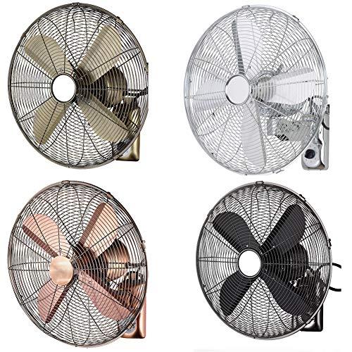 HLILY Ventilatore Silenzioso Ventilatore A Muro,Telecomando Ventilatore da Parete per Oscillante Elettrico Fan 3 velocità,Ventola di Raffreddamento retrò per Soggiorno in Ufficio(40cm/45cm)