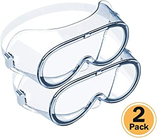 Magicare Safety Glasses, Universal Eyewear with Elastic Rope, Clear, Fog-Free, Anti Scratch, Impact Resistant and Decrease Splatter, Spectacles for Eye Protection (2PCS)