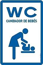 Cartel Resistente PVC - WC CAMBIADOR DE BEBÉS - Señaletica ...