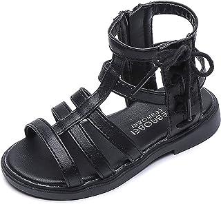 Gladiator Ballerina's voor meisjes, platte schoenen, zomerschoenen, teenslippers, sandalen, riempjessandalen, hoge laarze...
