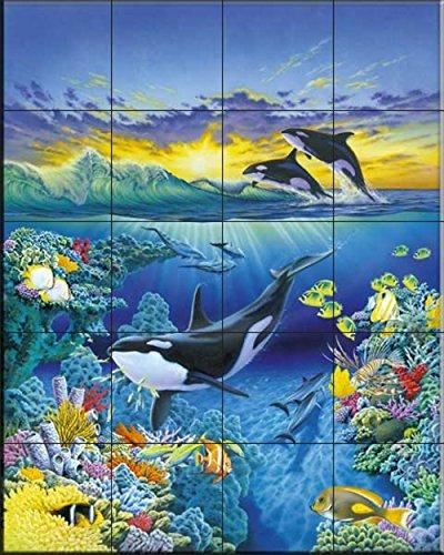 Keramik Fliesenbilder - Leben Meer - von Robin Koni - Küche Aufkantung / Bad Dusche