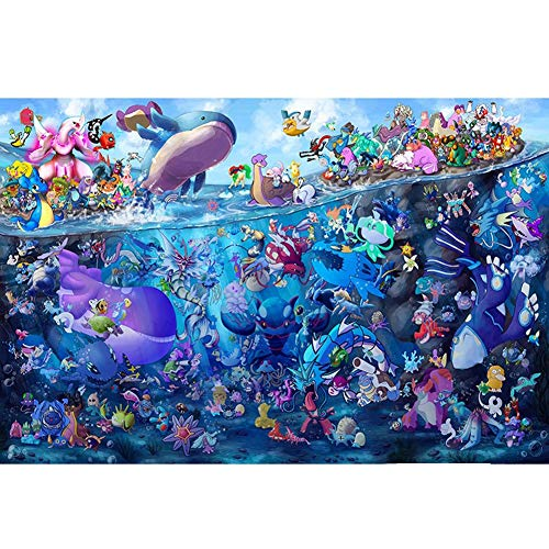 Rowe Puzzle Pokemon For Adultos Y Niños Edades 4-10 Años De Edad 80/300/520/1000 Piezas De Colores IQ Juego Intelectual Juguetes Educativos (Size : 80PC)