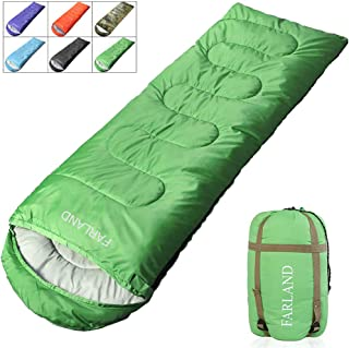 FARLAND Camping Sleeping Bag for Adults Youth Teens Kid with 0 Degree centigrade 20 Degree F Cold Weather Compression Sack...