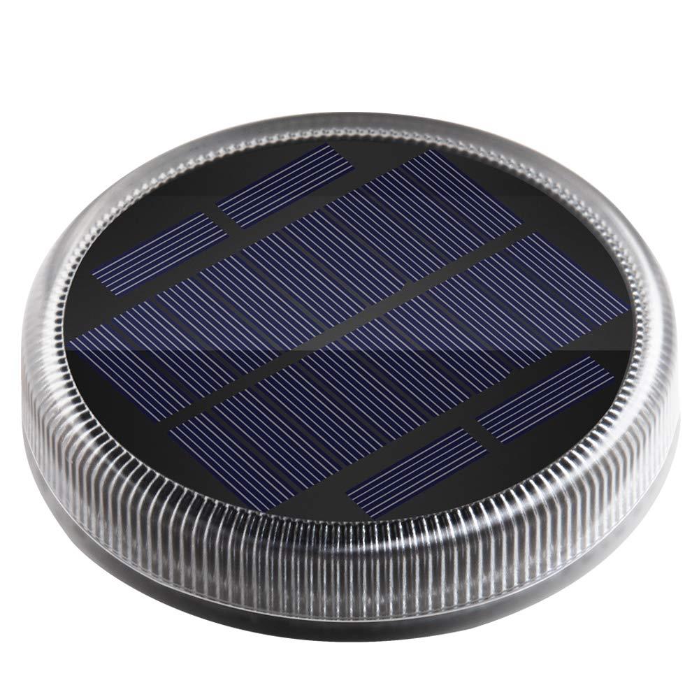 Luces Solares, Lámpara Solar Exterior 24 LED 360° Iluminación IP68 Impermeable Auto ON/OFF Luz