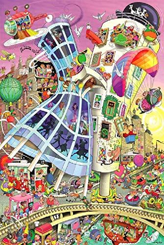 Puzzle 1.500 piezas, Rompecabezas de encastre de Madera, Puzzle Panorama, Obra de Arte de Juego de Rompecabezas para Adultos, Batalla de torre