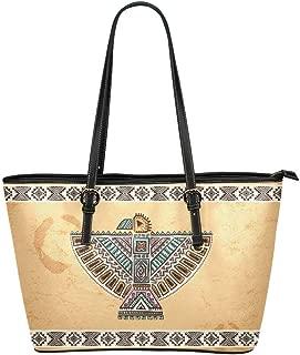 Bird Parrots Phoenix Leather Tote Shoulder Bags Handbags for Women
