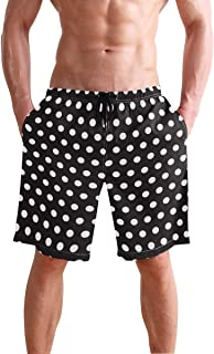 Men's Beach Swim Trunks Tropical Swimsuit Underwear Board Shorts with Pocket and Mesh Lining
