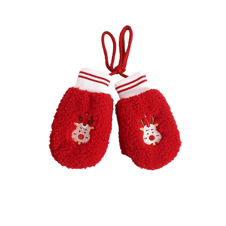Kids Beanie Lovely Lightweight Knitted Hat Scarf Gloves Unisex Christmas Tree 3
