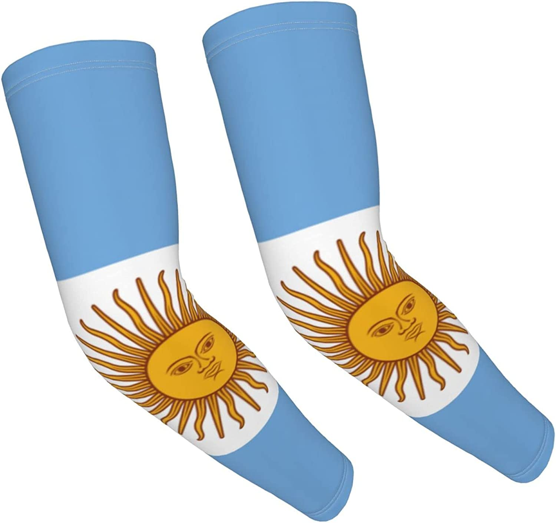 GKrepps Flag of Argentina Compression Sleeves for Kids Basketball Shooting Sleeve - Youth Sports Football Baseball Softball