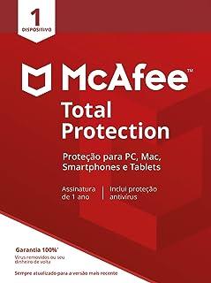 McAfee Total Protection 1 Antivírus – Programa premiado de proteção contra ameaças digitais, programas não desejados, mult...