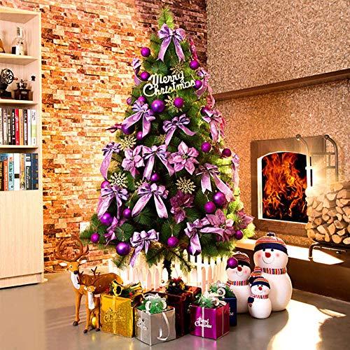 Green Pencil Slim ChristmasTree,Encrypted pine tree, luxurious Christmas tree-purple_1.8m,PVC Material Artificial Christmas Tree