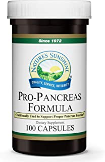 Nature's Sunshine Pro-Pancreas, 100 Capsules, Kosher | Herbal Formula Enhances Digestion, Promotes Immunity, and Helps The Liver and Pancreas