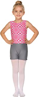 Zaclotre Girls Gymnastics Leotards Colorful Plaid Camouflage Biketards with Shorts