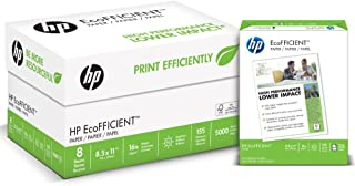 HP Printer Paper, EcoFFICIENT16 Paper, 8.5 x 11 Paper, Letter Size, 16lb Paper, 92 Bright, 8 Ream Case / 5,000 Sheets (216000C) Acid Free Paper