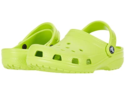 Crocs Kids Classic Clog (Toddler/Little Kid/Big Kid) (Lime Punch) Kids Shoes